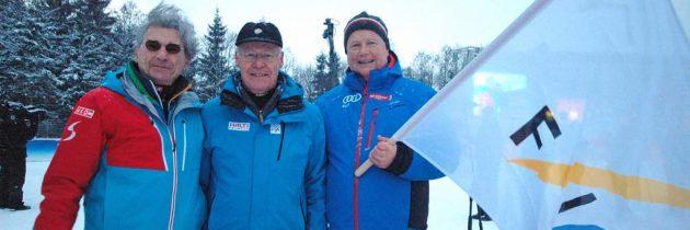 Oberstdorf übernimmt FIS Fahne der Skiflug WM 2018