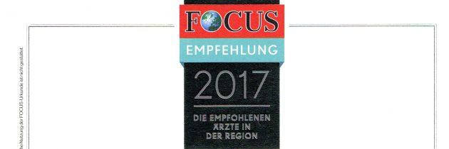 Praxis von Focus Gesundheit empfohlen